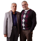 Indian Father and Son. Portrait of a east indian father and son Royalty Free Stock Photo