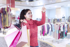 Indian female buyer in the shopping center Stock Photos