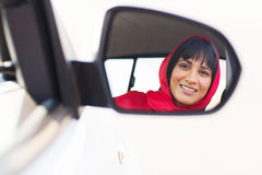 Indian female driver Royalty Free Stock Images
