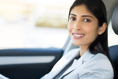 Indian female driver Royalty Free Stock Image