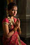 Indian female praying Royalty Free Stock Photos