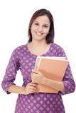 Indian female student Stock Image