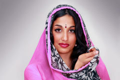 Indian female traditional look Royalty Free Stock Images