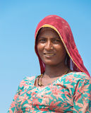 Indian female worker on salt farm Royalty Free Stock Images