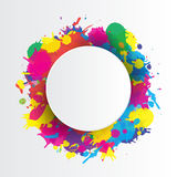 Indian festival background with colors splash Royalty Free Stock Photos