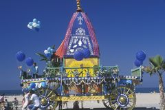 An Indian Festival of Chariots in Santa Monica California Stock Images
