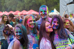 Indian festival of colors Holi. People having fun in the Indian festival of colors Holi Stock Photo