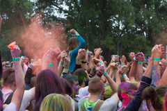 Indian festival of colors Stock Photos