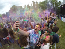 Indian festival of colors Stock Image