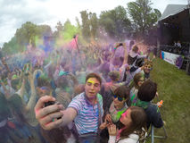 Indian festival of colors Stock Photography