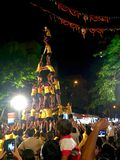 Indian festival of Dahi Handi being celebrated in Mumbai, India Royalty Free Stock Photos