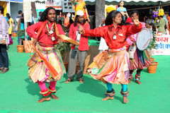 Indian Festival Dancers Stock Photos