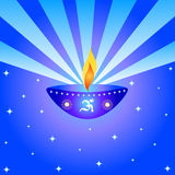 Indian festival design. Indian festival Diwali design with a lamp Royalty Free Stock Images