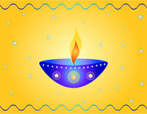 Indian festival design. Indian festival Diwali design with a lamp Stock Photo