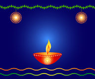 Indian festival design. Indian festival Diwali design with a lamp and decorations Royalty Free Stock Image