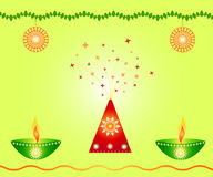 Indian festival design. Indian festival Diwali design with a lamps and decorations Royalty Free Stock Photography