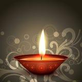 Indian festival diwali. Stylish indian festival diwali diya on dark background