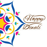 Indian festival for diwali celebration greeting design Royalty Free Stock Image