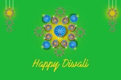 Indian festival Diwali, lamp design vector illustration