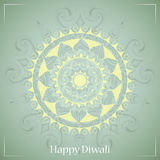 Indian festival Diwali greeting card design Stock Image
