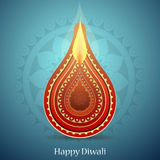 Indian festival Diwali greeting card design Royalty Free Stock Photos