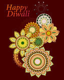 Indian festival Diwali greeting card design Stock Photos