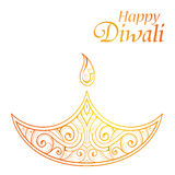 Indian festival Diwali greeting card design Royalty Free Stock Image