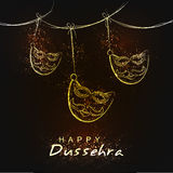 Indian Festival Happy Dussehra background. Royalty Free Stock Images
