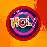 Indian festival Happy Holi splash  Royalty Free Stock Photo