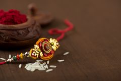 Free Indian Festival: Raksha Bandhan.A Traditional Indian Wristband Which Is A Symbol Of Love Between Brothers And Sisters. Royalty Free Stock Images - 124023309