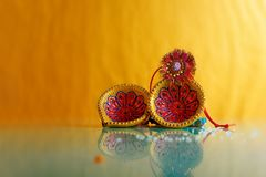 Indian festival raksha bandhan , Rakhi with flower ,rice. Indian festival raksha bandhan , Rakhi with flower , rice etc stock image