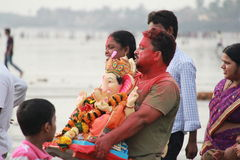 Ganesh visarjan Festival Royalty Free Stock Photography