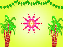 Indian festival sankranthi illustration Stock Image