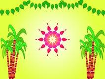 Indian festival sankranthi illustration stock image