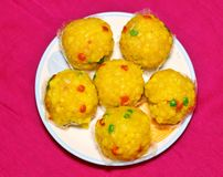 Indian festival sweet Laddu royalty free stock photos