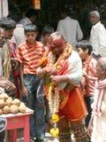 Indian Festivals-Bonalu-Potharaju blessing People Royalty Free Stock Photos