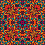 Indian festive colorful ethnic tribal pattern. Abstract geometric mosaic vintage ethnic seamless pattern ornamental Stock Images