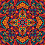 Indian festive colorful ethnic tribal pattern. Abstract festive colorful mandala vector ethnic tribal pattern Stock Photos