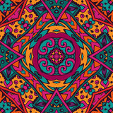 Indian festive colorful ethnic tribal pattern Stock Images