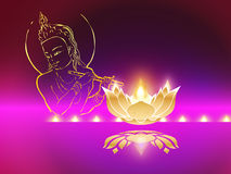 Indian Festive Diwali with Krisna. Symbol for Indian Festive Diwali with shining lamp Stock Photo
