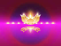 Indian Festive Diwali. Symbol for Indian Festive Diwali with shining lamp Stock Image