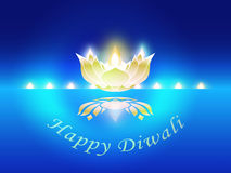 Indian Festive Diwali. Symbol for Indian Festive Diwali with shining lamp Stock Images