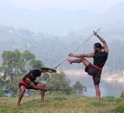 Kalaripayattu Martial Art in Kerala, India Stock Photos