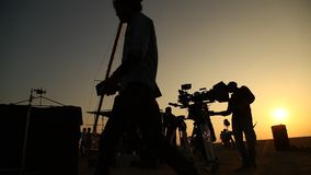 Indian Film crew in Desert