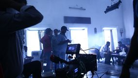 Indian Film crew At work stock footage