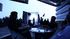 Indian Film crew At work stock video