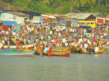 Indian Fish Market Stock Images