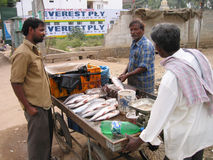 Indian Fish Monger Stock Photos