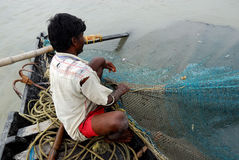 Indian fisherman. Royalty Free Stock Photography