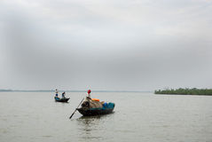 Indian fisherman Stock Images
